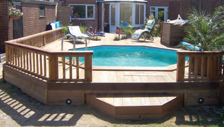 Great Plastica 5.1m X 7.5m Eco Stretched Octagonal Wooden Pool